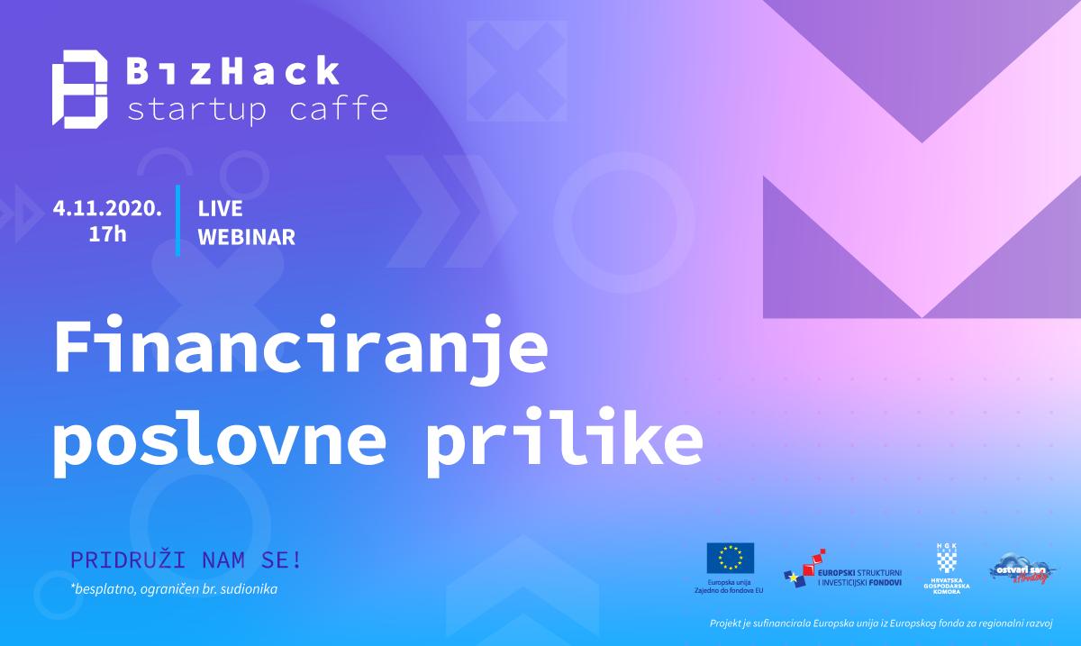 BizHack Startup Caffe organizira webinar: Kako financirati svoju poslovnu priliku